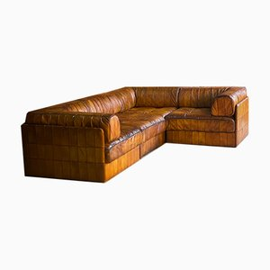 Sectional Leather Model DS88 Sofa from De Sede, 1970s, Set of 11