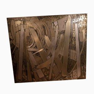 Decorative Copper Panel by Victor Cerrato, 1970s