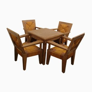 Table and Chairs, 1950s, Set of 5