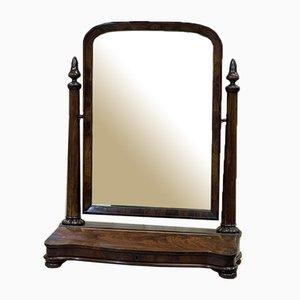 Antiker englischer Spiegel mit Rahmen aus Mahagoni im viktorianischen Stil