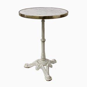 Säulentisch aus gegossenem Marmor