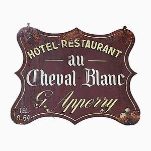Plaque pour Hotel-Restaurant Vintage, 1950s