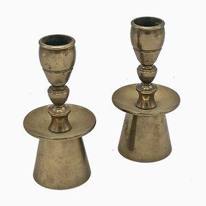 Scandinavian Brass Candle Holders from Kara, 1960s, Set of 2