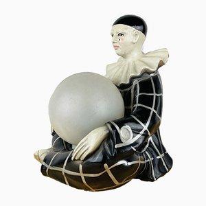Französische Vintage Keramik Pierrot Tischlampe von Regal 1960er