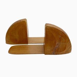 Anthroposophische Buchstützen aus Holz, 2er Set