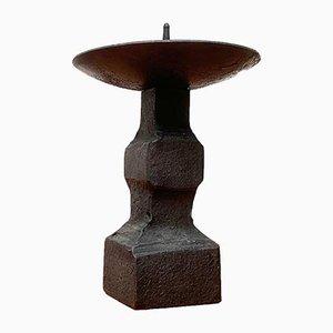 Brutalistischer Mid-Century Kerzenständer aus Schmiedeeisen