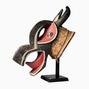 Colourful Helmet Dance Mask Bo Nun Amuin, Baule People, Ivory Coast