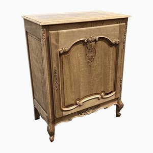 French Bleached Oak Side Cabinet or Cupboard