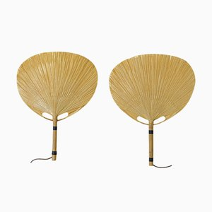 Uchiwa Wall Lamps by Ingo Maurer for Design M, 1970s, Set of 2
