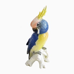 Parakeet Porcelain Sculpture