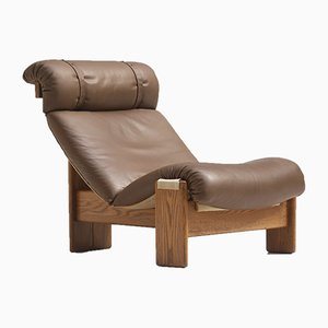 Leder Sling Stühle, 1970er, 5er Set