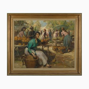 Richard Durando-Togo, Women at the Market, Oil on Canvas
