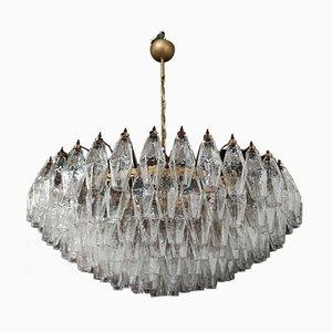 Murano Glas Kronleuchter mit 185 Poliedri Gläsern