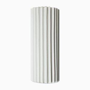 Lámpara de pared plisada con pantalla de lino