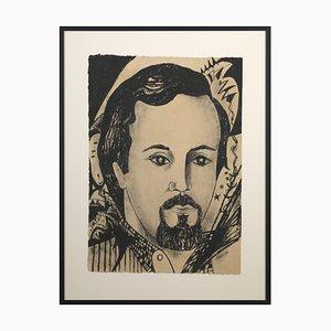 Marguerite Akarova, Portrait d'un Homme, Dessin sur Papier