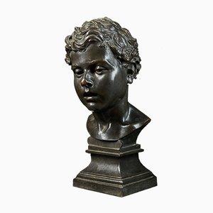 Portrait Henri Van Hoeter en Bronze, Buste d'un Jeune Homme