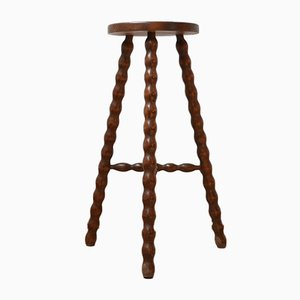 Mid-Century French Bobbin Stand or Side Table
