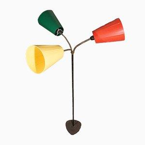 Dreiarmige Verkehrskegel Stehlampe im Stil von Svend Aage Holm Sørensen von Holm Sørensen & Co, 1960er