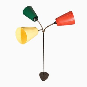 Traffic Cone 3-Arm Floor Lamp in the Style of Svend Aage Holm Sørensen from Holm Sørensen & Co, 1960s
