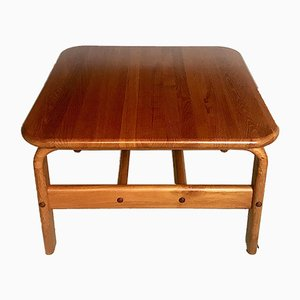 Danish Square Solid Teak Side or Coffee Table, 1960s