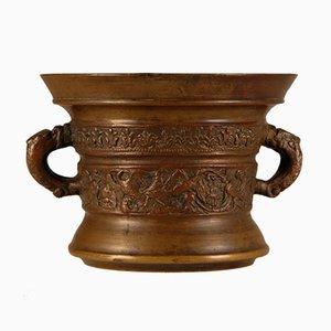 Antiker niederländischer Renaissance Mörser & Stößel aus Bronze, frühes 17. Jh