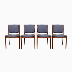 Teak Dining Chairs from Illums Bolighus, 1960s, Set of 4