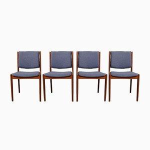 Teak Esszimmerstühle von Illums Bolighus, 1960er, Set of 4