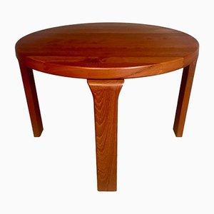 Danish Round Solid Teak Side or Coffee Table by Dyrlund, 1960s