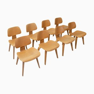 Plywood DCW Chairs by Charles & Ray Eames for Vitra, Set of 8