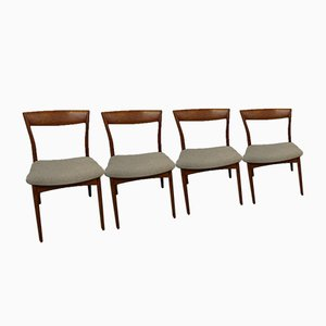 Dänische Teak Stühle, 4er Set