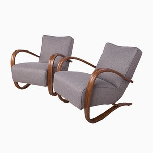 Model H-269 Lounge Chairs by Jindřich Halabala for UP Závody, 1930s, Set of 2