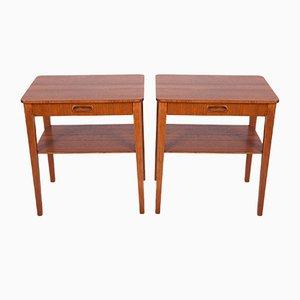 Tables de Chevet Mid-Century, Suède, 1960s, Set de 2