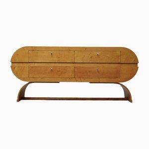 Mid-Century Round Maple Dresser, 1980