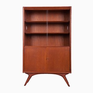 Mid-Century Teak Cabinet with Bookcase, 1960s