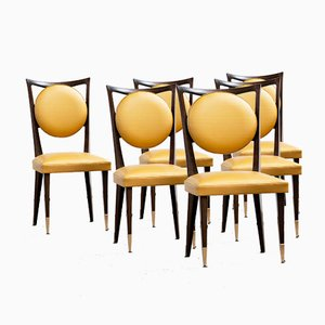 Art Deco Chairs, France, 1940, Set of 6