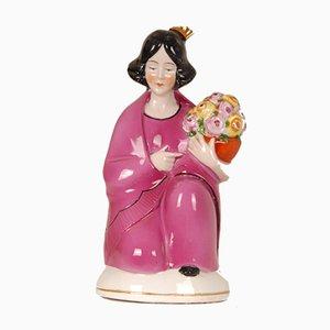 Antique German Porcelain Figural Perfume Lamp and Scent Burner