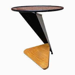 Mid-Century Modern Italian Irregular Shaped Coffee Table with Round Top, 1980s