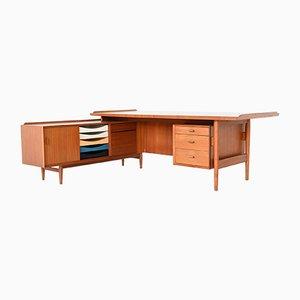 Executive Desk with Return in Teak by Arne Vodder for Sibast, Denmark, 1960s
