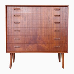 Mid-Century Danish Teak Chest of Drawers by Johannes Sorth for Bornholm, 1950s or 1960s