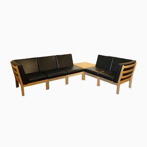 Modul Serie GE280 Sofa und Ecktisch von Hans J. Wegner für Getama, 6er Set