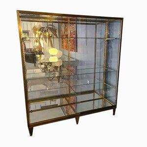 Large Gilt Brass Showcase Cabinet from Maison Siegel, Paris, 1900s