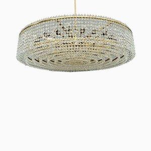 Großer Kronleuchter aus Kristallglas mit 32 Glühbirnen von J. & L. Lobmeyr für Lobmeyr, 1950er