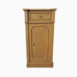 Table de Chevet Antique Ocre Laquée