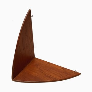 Butterfly Wall Shelving Unit Attributed to Poul Cadovius, Denmark, 1960s