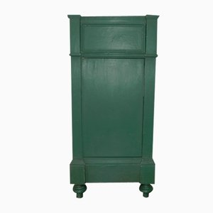 Antique Green Lacquered Nightstand