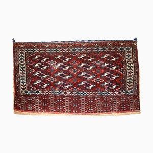 Antique Turkmenistani Handmade Yomud Rug, 1900s