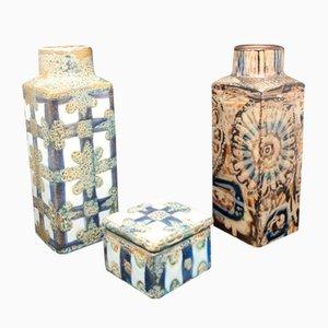 Keramik von Nils Thorsson für Royal Copenhagen, 3er Set