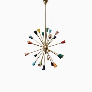 Mehrfarbige Sputnik Hängelampe aus Messing