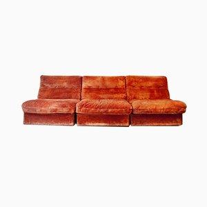 Suede Sofa Set by Antonello Mosca for Cinova Italia 1960s