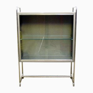 Industrial Aluminum and Metal Showcase Cabinet, 1960s